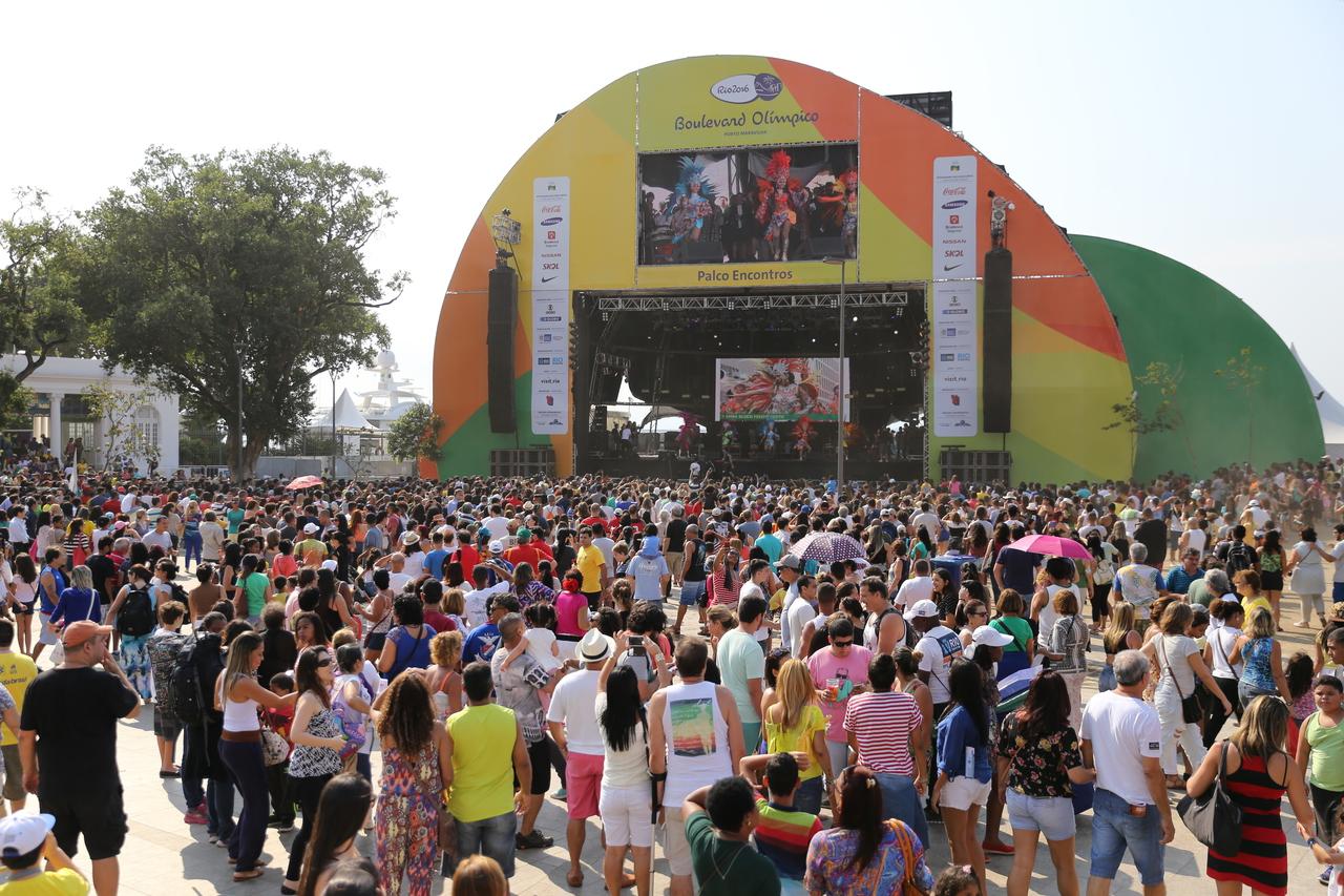 TOHOKU & TOKYO in RIO:会場風景(Rio2016 LiveSites) 写真提供:東京都、アーツカウンシル東京